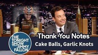 Thank You Notes: Cake Balls, Garlic Knots
