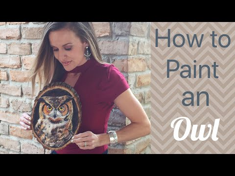 Owl Acrylic Painting Tutorial on Wood – By Artist, Andrea Kirk | The Art Chik