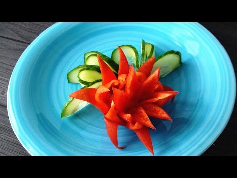 How To Make Chili Pepper Flower | Vegetable Carving ...