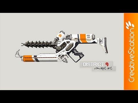 District 9 weapon - Speed art ( #Photoshop CS5 ...