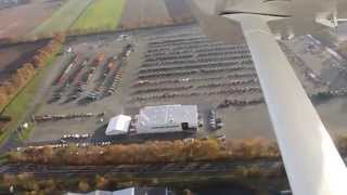 Aerial video of Europe's largest farming equipment auctions in Meppen, Germany