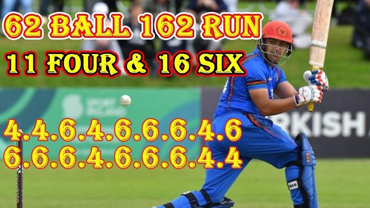Hazratullah Zazai 162 Runs of 62 Balls World Record    Afg vs Ire 2nd T20