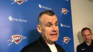Thunder vs Portland - Billy Donovan