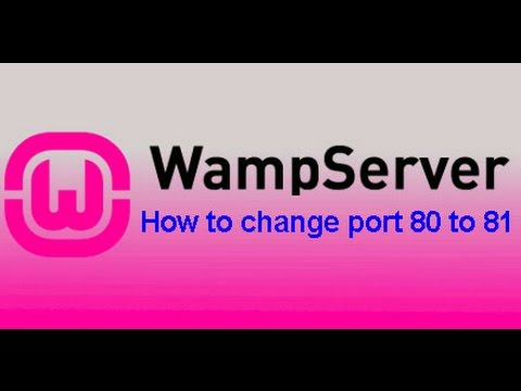 How To Change Port 80 To 81 In Wamp Server