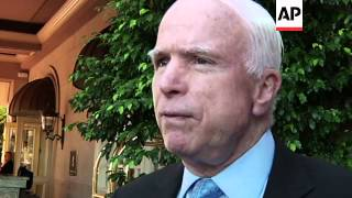 Republican Sen. John McCain discusses Tuesday's elections, his disapproval of President Obama's poli