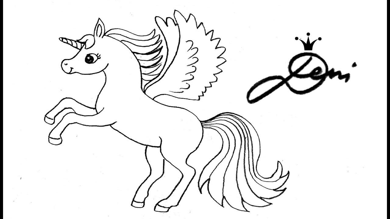 springendes pegasus einhorn zeichnen lernen 🐎 how to draw