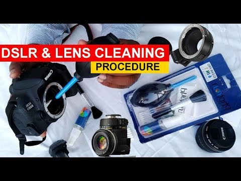 How to Clean DSLR Camera & LENSES Properly & Safely !  Practical Tutorial