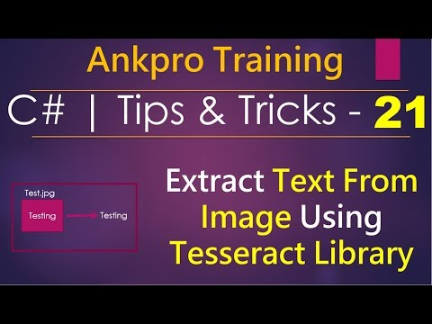 C# tips and tricks 21 - Extracting text from an image using Tesseract OCR library for C# (CSharp)