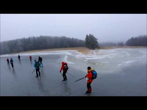 Fifty Shades of Gray (ice, fog, drizzle and nordic skating)