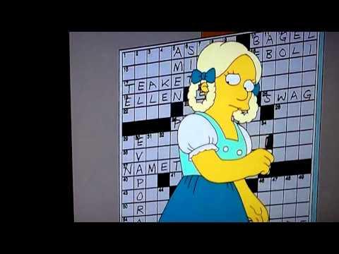 Simpsons crossword song