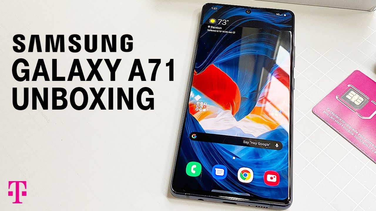 Samsung A71 5G Phone Unboxing | T-Mobile