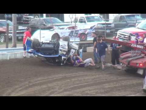 IMCA Late Model Heat 2 Independence Motor Speedway 7/22/17