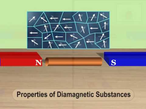 Properties of diamagnetic substance