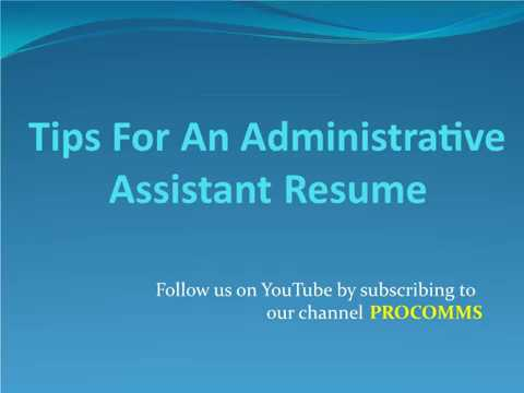 Administrative Assistant Resume   Administrative Assistant Resume Tips