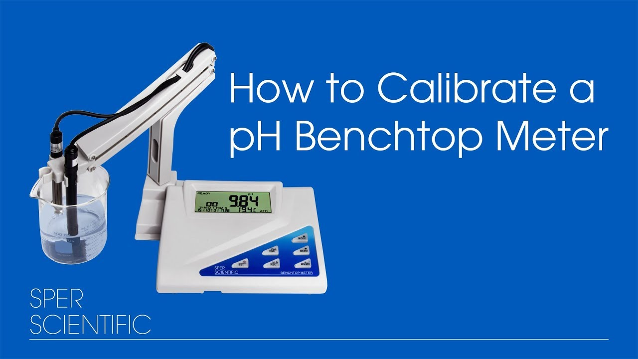 how to calibrate ph bench top meters 860031 32 33