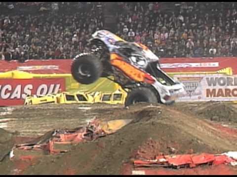 Monster Jam Team Hot Wheels Monster Truck In Anaheim 2012 Youtube