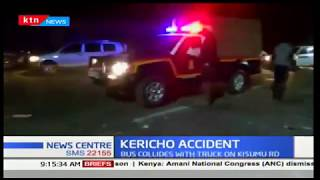 Kericho Accident:31 passengers escaped death after the bus carrying them collided with a truck