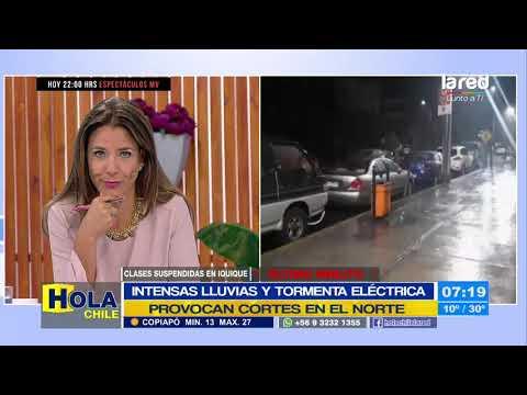 Intensas lluvias y tormenta eléctrica provocan cortes y daños en la Región de Tarapacá