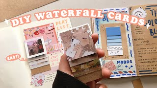 how to make waterfall cards 🌸 an EASY diy tutorial // super aesthetic ✨ screenshot 1