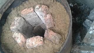 Муфельная печь из подручных материалов.