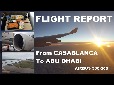 Flight Report | ETIHAD AIRWAYS | Airbus 330-300 | Casablanca to Abu Dhabi |
