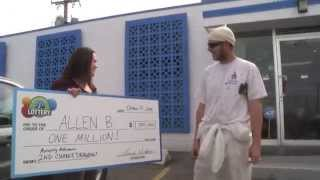 $1,000,000 Monopoly Millionaire 2nd Chance Drawing Winner! - Allen B. from Thornton got the shock of his life when Kelly and the crew Prize Surprised him in the middle of the workday - with a check for $1 million! He and his wife Lorena will pay off their house and start a college fund for their 16 month-old son. CONGRATULATIONS!