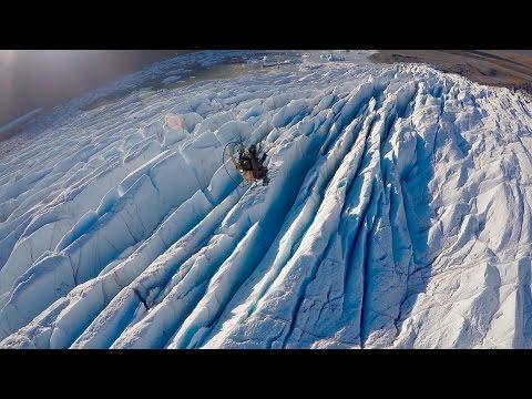 Amazing Paramotor Flight - Alaskan Glacier