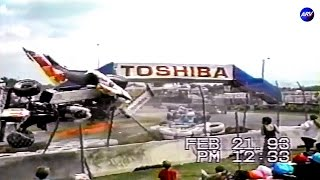 Big Crash at 1993 Barber Saab Pro Series Miami