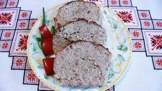 Мясной рулет рецепт Рулет из свинины Мясные блюда М'ясний рулет Мясной хлеб Мясной хлебец Мясний рул