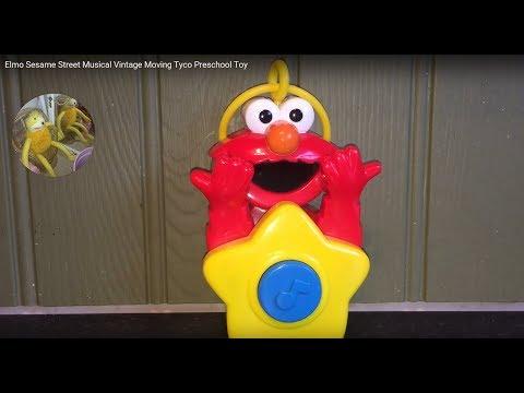 Elmo Sesame Street Musical Vintage Moving Tyco Preschool Toy