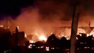 Imagen tercera alarma incendio Antofagasta Campamento Luz Divina