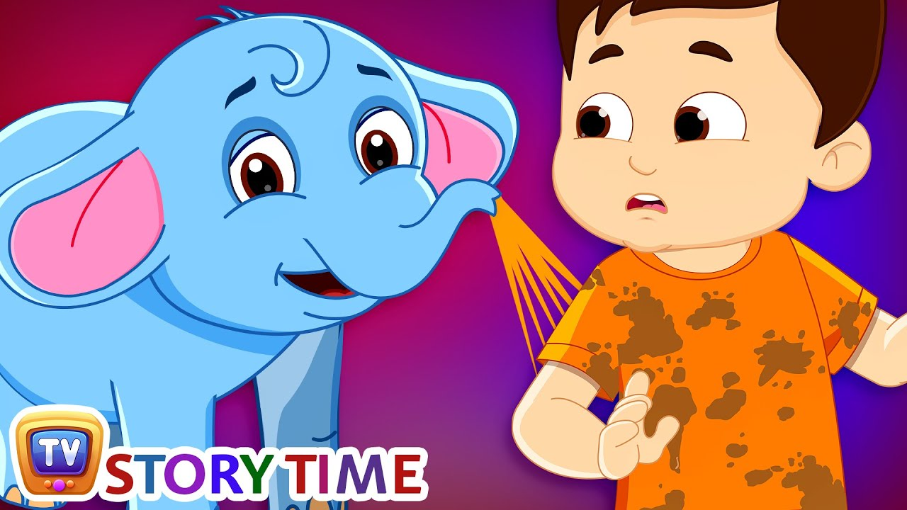 Boy and Baby Elephant - ChuChu TV Storytime Good Habits Bedtime Stories for Kids