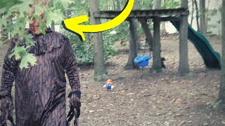 Is the TreeMan Dressed as Groot from Guardians of the Galaxy or is it the Scary Clown?