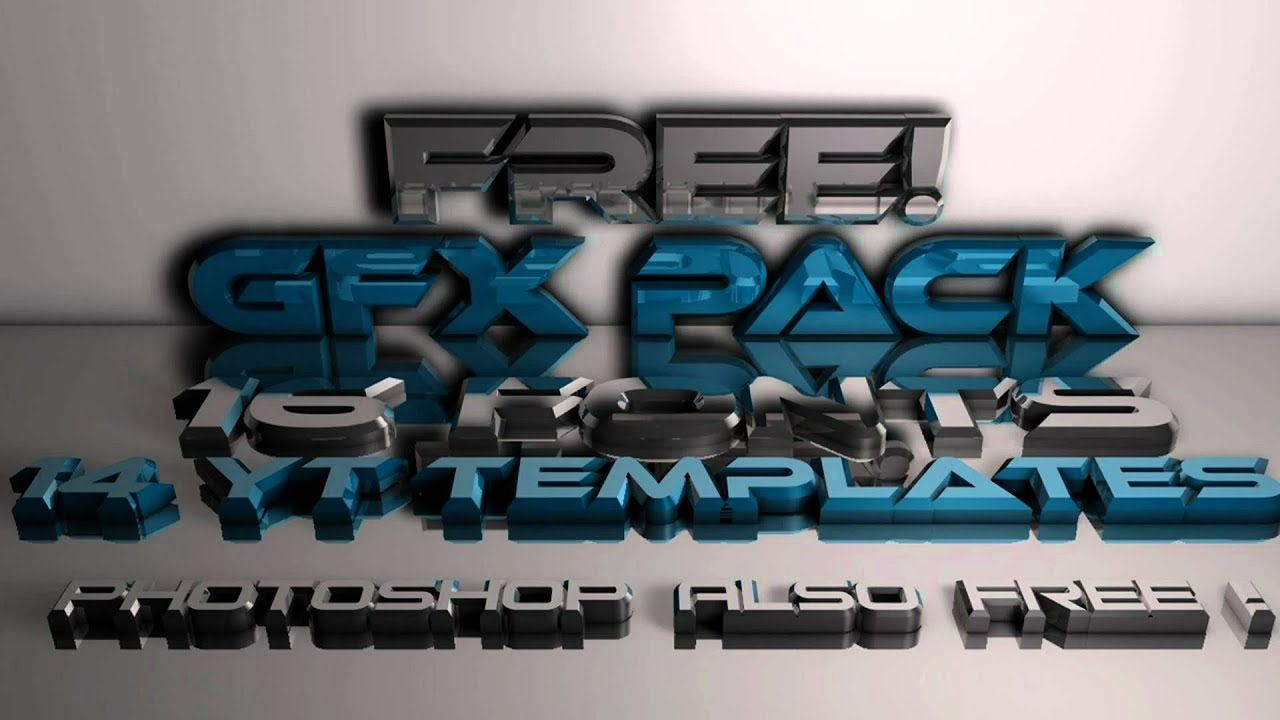 Download FREE! GFX PACK! +30 Fonts - Templates - PhotoShop CS4 FREE ...