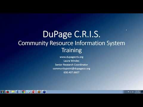 DuPage CRIS Introductory Training