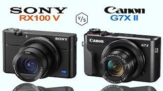 Sony RX100 V vs Canon G7X Mark II
