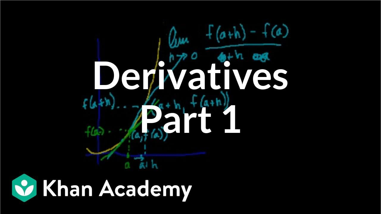 Calculus: Derivatives 1 | Taking derivatives | Differential Calculus | Khan Academy