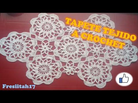 Como crear un tapete a crochet en espa ol youtube for Tapetes de crochet