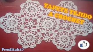 Repeat youtube video Como Crear Un Tapete A Crochet En  Español