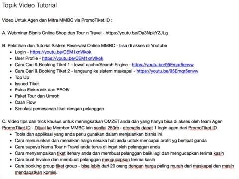 MMBC PromoTiketID Tutorial 6 - Setting harga lebih murah dari website tetangga