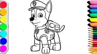 Раскраски для детей//Учим цвета и рисовать//Щенячий патруль //Coloring books for children