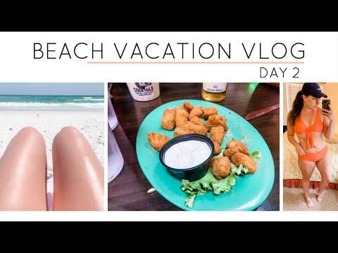 BEACH VLOG DAY 2 - WHAT I EAT IN A DAY thumbnail