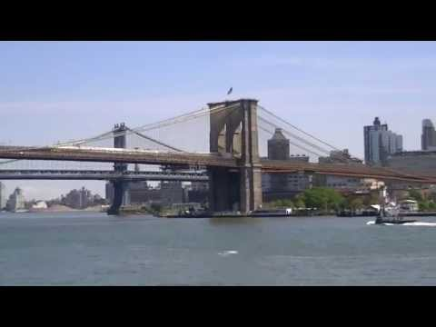 New York City's South Street Seaport and Brooklyn Bridge (HD)