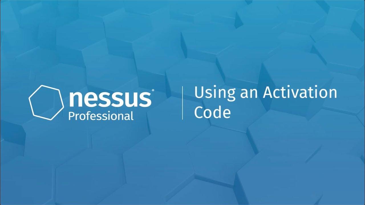 nessus professional activation code