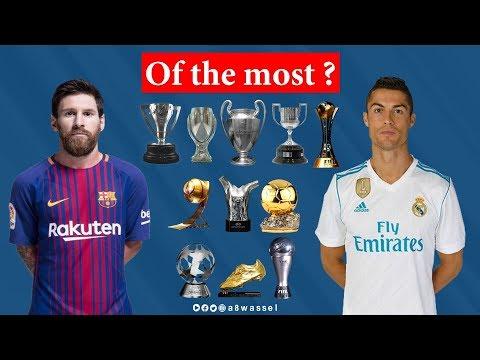 Cristiano Ronaldo vs Lionel Messi THE GOALS, AWARDS, TITLES AND STATISTICS