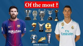 Cristiano Ronaldo vs Lionel Messi THE GOALS, AWARDS, TITLES AND STATISTICS thumbnail