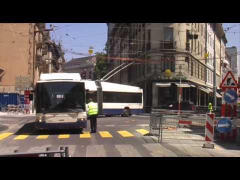 Genève : Essais trolleybus/ Boucle des Bains 24 06 2010.wmv