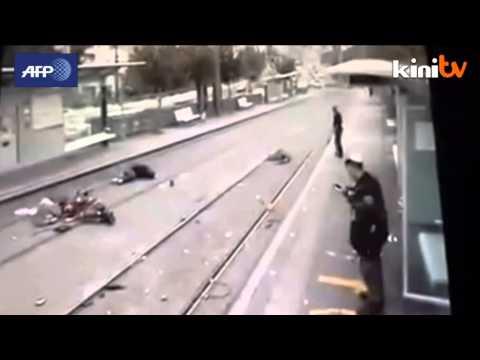 Surveillance footage shows Jerusalem car attack