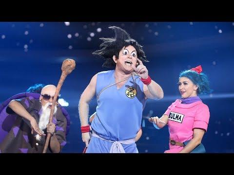 El Monaguillo imita a Son Goku en 'Makafushigi Adventure!' (Dragon Ball) - Tu Cara Me Suena