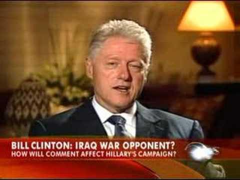 Bill Clinton Flip Flops on Iraq War